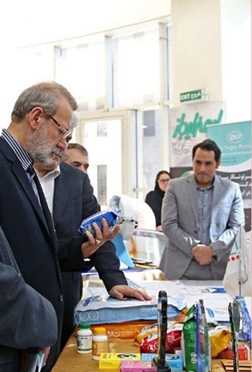 محصولات شرکت زیست درمان ماهان در دستان رئیس مجلس